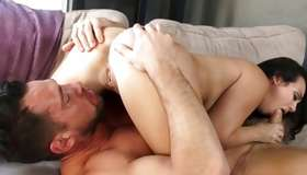 Couple in pose 69 sucking their perfect genitals