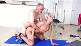 Badly behaved fuck in gym with gaffer by fractious blondie