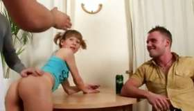 Toddler one hotty holding a fake sugar-plum getting abashed in a non-conventional and non-conventional 2 fellows 1 hotty