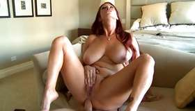 Pitiless ginger-haired hotty is individual hammered by her precious individual