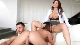 Amorous threesome with glorious whores