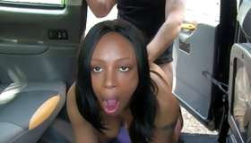 Harlot posing in the car is poked horny hard core