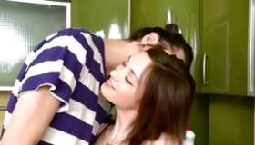 This babe decidedly goes for stud is touching her sweet man